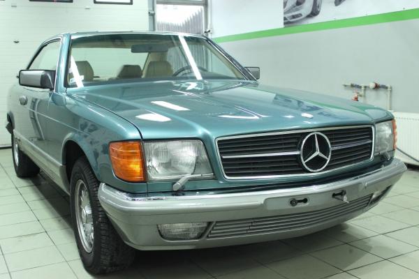 Mercedes W 126 SEC  - korekta lakieru + 3-letnia powłoka ceramiczna + impregnacja wnętrza