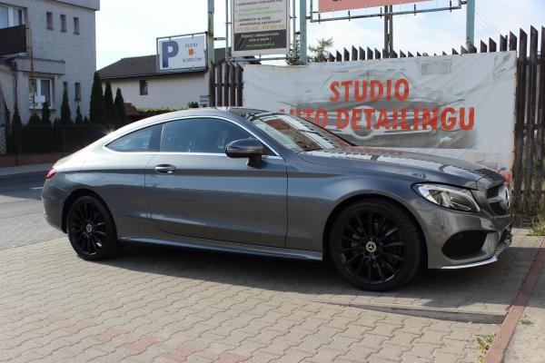 Mercedes C Coupe - korekta lakieru + folia ochronna + 3-letnia powłoka ceramiczna + detailing wnętrza