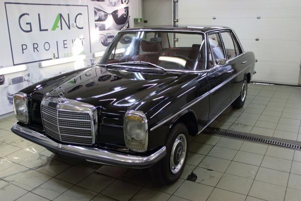 Mercedes W115  - korekta lakieru + powłoka 12-miesięczna + detailing wnętrza