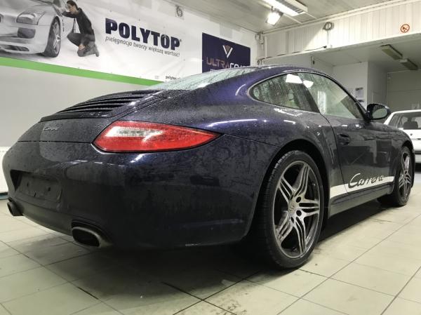 Porsche 911 - korekta lakieru + powłoka 12-miesięczna + detailing wnętrza
