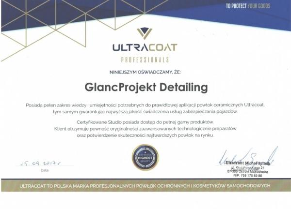 Certyfikat Ultracoat