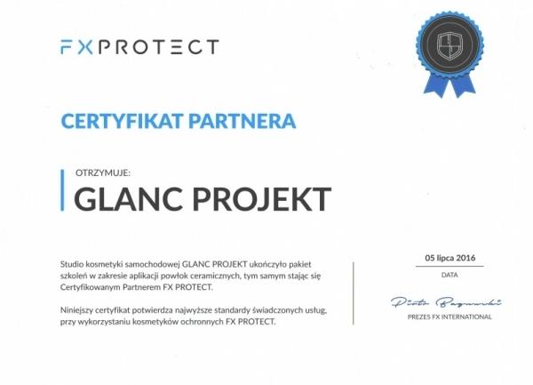 Certyfikat FX