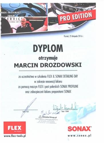 Certyfikat Sonax
