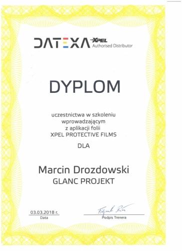 Certyfikat Datexa